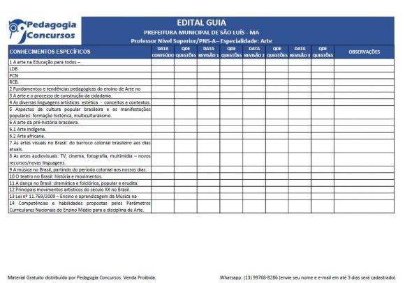 Edital Guia Artes 1 580x406 - Edital Esquematizado para Concursos