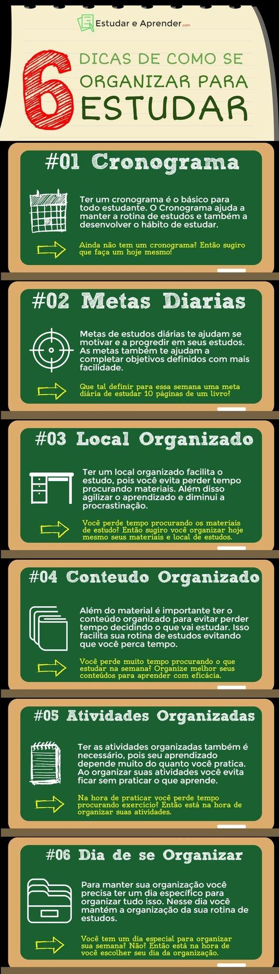 6 Dicas de Organizar para Estudar - Dicas de como se organizar para os estudos